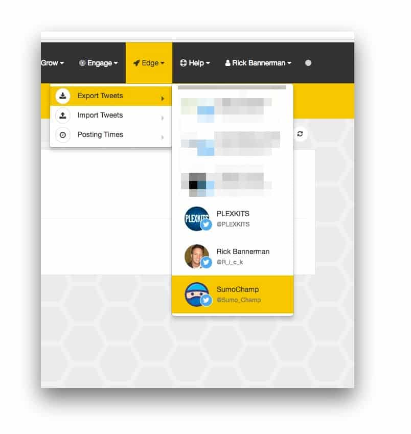 socialbee export tweets feature